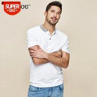 2021 pólo dos homens camisas mangas curtas brancas moda azul listrada colarinho poloshirts homens de verão magro top plus size az-17060 # fn3r