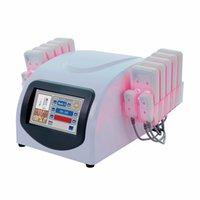 Estoque nos EUA 5mw queimar laser laser diodo lipolysis perda de peso máquina de emagrecimento lllt celulite 10 grandes padaria 4 SmallPad 635nm 650nm equipamentos de beleza