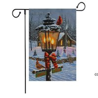NOUVEAU Drapeau de Noël Série Modèle Noël Snownman Drapeau de jardin Bannière Drapeaux 47 * 32cm Fournitures de fête de Noël DHE8670