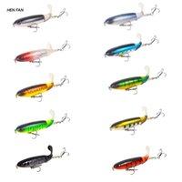 Fishing Hooks M89D Artificial Hard Bait Jig Crankbait Carp Striped Bass Rotating Tail Lure