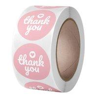 Regalo wrap 500pcs Grazie Sticker Adesivo 1 pollice Pacchetto scatola di tenuta Etichetta Scrapbooking Decoration Busta Adesivi cancelleria