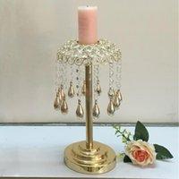 Уникальная подсвечник / стеклянная золотая желтульная ваза для свадьбы и украшения партии