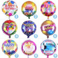 18 polegadas feliz aniversário coração bolas de ar alumínio balões de festa decorações crianças hélio balão festas festas dhb5816