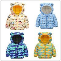 Childrens Winter Cartoon Down Cotton Padded Jacket Kids Winter Spring Autumn Short Coat Boys Girls Warm Clothes YZ 003