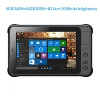 Inch Rugged Tablet PC 4GB RAM 64GB ROM 4G Lte 1000nits Brightness 1D 2D Barcode Scanner RFID NFC Bluetooth Windows 10 Scanners