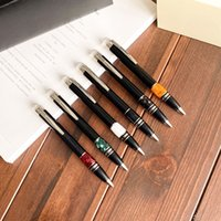 Marka siyah tükenmez kalem 6 stilleri kristal top noktası kalemler orijinal kutu iş hediyeler ile yüksek kalite kırtasiye samimi hediye