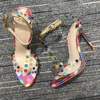 2021 Luxurys Tasarımcılar Kadın Ayakkabı Siyah Kırmızı Dipleri Yüksek Topuklu Seksi Sivri Burun Sole Düz 8mm Gelinlik Çıplak Pompalar
