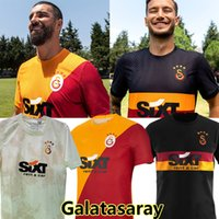 2021 2022 Falcao Galatasaray SK Fussball Trikots Startseite 21/22 Türkei Sümer Lig Dekre Yedlin Fernandes Mostafa Mohamed Marcelo Saracchi Luyindama Football Hemden