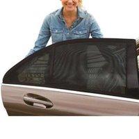 2pcs 자동차 차양 바이저 뒷면 창 태양 그늘 메쉬 패브릭 커버 실드 UV 보호자 파라솔