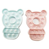 Push Bubble Fidget Toys Rabbit Bear Shape Silicone Squishy Toy Stress Reliever Kids Table Game Party Novel Toy Regalos 2021 G12807