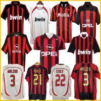 Manches longues 90 91 T-shirts rétro Home 96 97 Gullit Soccer Jersey 01 02 03 Maldini Van Basten Football Ronaldo Kaka Inzaghi 06 07 AC Milan 2009