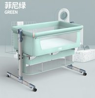 Crib baby stitching bed removable folding portable bionic baby cradle bed newborn bb crib with roller mosquito net
