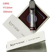 Kurvana Vape Cartouches Emballage 0.8ml Atomiseurs Céramique Bobine épaisse Débardeur Verre Vape Vape Vapes Laveurs 510