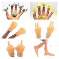 Novidade Items PVC Cinza Fantasma Cabeça de Dedo Narramento de Dedo Mini Dedos Definir Cápsula Toy 6 estilos FWF10207