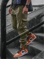 Мужские на открытом воздухе спортивные спортивные штаны моды кандидата бегущий фитнес спортивные спорты тощий карандаш брюки пружины мужские карманы вскользь тонкие брюки