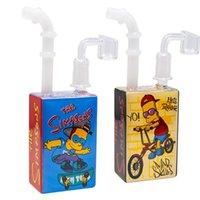 hookahs Mini beaker bong 14 mm joint glass banger percolator water Juice Box oil rigs dab rig bongs smoking pipes