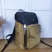 Последнее высокое качество Холст водонепроницаемый нейлон большой емкости рюкзак Oxford вращающиеся моды ретро мужские рюкзаки мода тонкие дорожные сумки