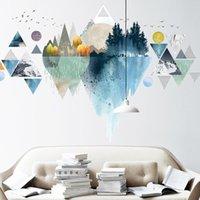 Moderne geometrische Wandaufkleber Teenager-Raumdekoration Ästhetische VSCO-Mädchen-Schlafzimmer Wohnkehrkörper für Möbel