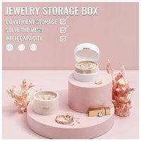 Storage Boxes & Bins Home Jewelry Earrings Ring Display Stand Large Capacity Box Necklace