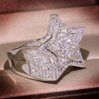 Echt S925 Sterling Silber 2 Karat Natürliche Moissanite Ring Für Frauen Hip-Hop Männer Anillo de Silber 925 Schmuck Ringe de Bizuteria