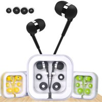 Crystal Box Colorful 3.5mm Earphones High Stereo Headphone In Ear Headset for iphone 5 6 Smartphone