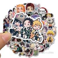 car Car Wholesale 50pcs Lot Pack Luggage Demon Sticker Anime Bulk Kids sticker Toys Helmet Skateboard Slayer Cartoon Decals Khjiv