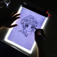 LED 휴대용 A4 그래픽 태블릿 야간 조명 추적 보드 복사 태블릿 디지털 드로잉 패드 Artcraft A4 복사 다이아몬드 페인팅 램프