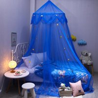 Baby Kids Children's Dreamy Fantasy Star Dome Mosquito Net Canopy Rooms Nets Room Hanging Crib Netting