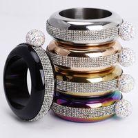 Bracelet Bangle Flask 304 Stainless Steel with Handmade Crystal Jug Women Men Party Hidden Liquor Alcohol Drinkware 3.5oz For Woman