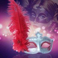 Factory Outlet Party Decoration Hanli Halloween Avestruz Mascarilla de pelo Venecia Beauty Princess Peacock Maquillaje de plumas Bola