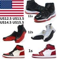 Zapatos de baloncesto Jumpman 1S Deporte 11S Obsidian 12s University Blue High High Sports Fearless Men Womens Hyper Royal unc Calidad Tamaño US11 13 US15 36-50 con la mitad