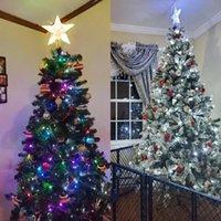 Christmas Decorations Tree Star Topper LED Lighted Top Decor Battery Powered Noel Navidad 2022 Xmas Warm Light Ornaments
