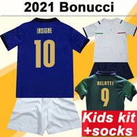 2021 Verratti Insigne Barella Kids Kit Soccer Jerseys Romagnoli El Shaarawy Jorginho Belotti Home Away