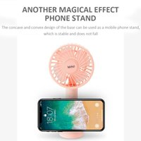 USB charging hands-free suspension cooling mini fan natural simple office home with mobile phone holder