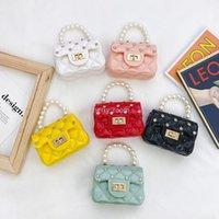 Детская жемчужная сумочка для девочек дизайнер инкрустация горный хрусталь желе мини менять кошелек дети конфеты цвет мешок сумка женщин нулевой кошелек B063