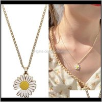 & Jewelrysimple Small Daisy Pendants Necklaces Women Man Charm Collar Jewelry Fashion Korean Design Romantic Choker Bijoux Fine Gifts Pendant