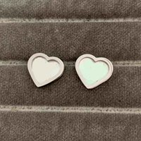 Top Quality Classic Size Women Designer Studs 3 Colors Titanium Steel Heart Lover Earrings Gold Plated Fashion Engagement Jewelry Lady Party Gifts