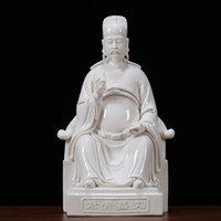 En Kaliteli Yaratıcı Tasarım Hallowmasdehua Seramik Wenchang İmparatoru Tanrı Heykeli İbadet, Beyaz Porselen Wenqu Xingjun Dekoratif CRA