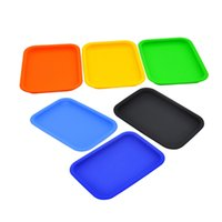 Cool Colorful Silicone Smoking Portable Storage Tray Working Scrolling Handroller Plate Preroll Rolling Machine Herb Tobacco Grinder Cigarette Holder Tip Tool