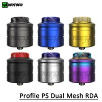 Wotofo Profile PS Dual Mesh RDA Atomizer 3ml Direct or Squonkable Dripping Method Compatible with Many Prebuilt wire