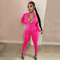 Sexy Rompers Womens Jumpsuit Female Long Sleeve Fitness Elastic Bodycon One Piece Ladies Jumpsuit Women Activewear