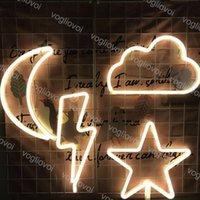 LED Neon Segno SMD2835 Indoor Night Light Lightning Cloud Star Moon Model Holiday Xmas Party Decorazioni da sposa Lampade da tavolo EUB