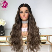 Lace Wigs Water Wave Front Wig Brown Blonde Highlights Colored Women Human Hair Frontal 13x4 13x6 Brazilian Remy 150% 180%