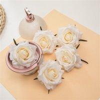 Decorative Flowers & Wreaths 50PCS lot Artificial Rose Flower Head 7CM European Retro Silk Wedding Wall Floral Party Home