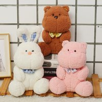 23CM Lovely Dream Series Sleeping Teddy Bear Rabbit Plush Toys Baby Soft Stuffed Animal Rabbits Pillow Birthday Gift HHA6199