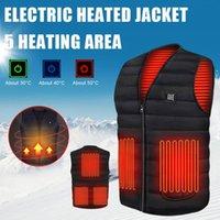 Outdoor T-Shirts 3 Gears Adjustable Men Winter Heated Vest Jacket USB Infrared Electric Heating Women Hunting Veste Chauffante