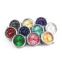 Mélanges 10pcs / Lot Glass Watch Buttons Snap Buttons FIT FIT DE 18MM / 20MM GINGER SNAPPOLET Boutons remplaçables Bijoux DIY 210323