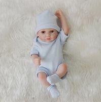 Bebe Reborn Full Body Soft Silicone Babies 28CM Imitation Realistic Reborn Baby Boy Lol Dolls For Child Gifts Boys Toys