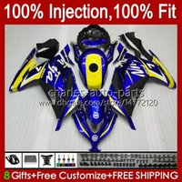 Фрес для впрыска тела для Kawasaki ZX-3R Желтый синий EX-300 EX300 ZX-300R ZX3R ZX 300R 27HC.11 ZX300R ZX 3R 2013 2014 2015 2016 2017 EX300R 13 14 15 16 17 OEM обтекатель