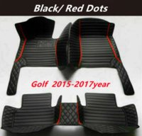 FOR Volkswagen Golf 2015-2017year Custom Car Splicing Floor Mats Waterproof Leather Wear-resistant Non-toxic Tasteless and Environmentally Friendly Foot Mats